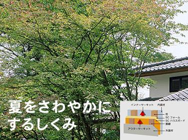 夏をさわやかにするしくみ|富山・石川の注文住宅・木造住宅・古材リフォームなどの外断熱の家づくり。株式会社アキ